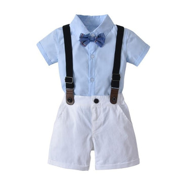 Summer Kids Blazers 1-4Y Baby Single Breasted Tie Baby Boy Suit