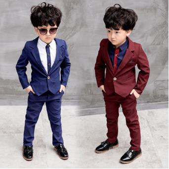 Fashion Autumn Winter baby Boys suit Formal Top Children's Suits