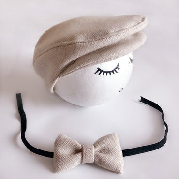 Cap Hat Bow Tie Photo Photography Prop Infant Boy