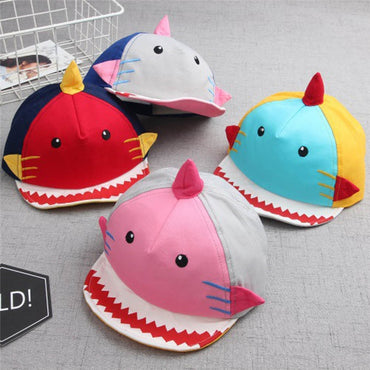 Baby Caps Cartoon Shark Boys Cap