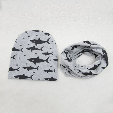 1 Set Baby Hat Scarf Cotton Kids Hat