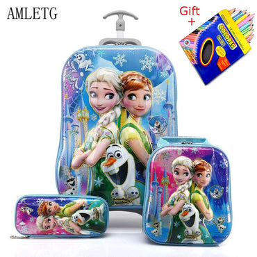 Luggage Suitcase for Girls Children Rolling Travel Luggage Bags