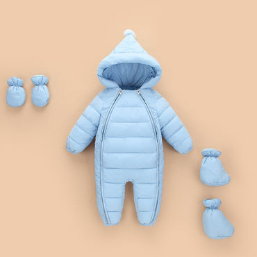 Infants Down Jacket  Climbing Warm Coat Toddler Thickening Rompers