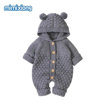 Knitted Jumpsuits Overalls Long Sleeves Toddler