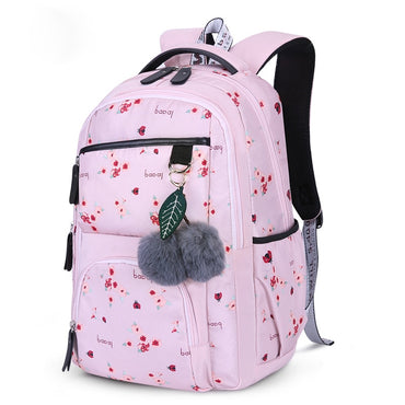 Flower Printing Style Backpacks Girls School Bags