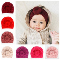 Turban Girls Stretchy Beanie Hat Baby Kids Hair Accessories