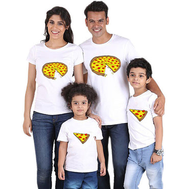 New print family t shirt short sleeve cotton matching family outfits