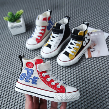 Canvas High Top Children's Sneakers Boys Girls Casual Shoes