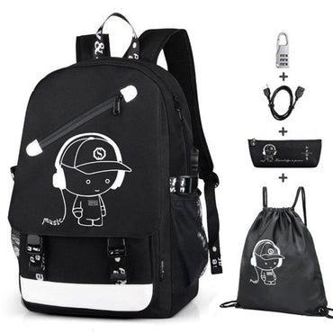 Fashion Laptop Backpack with USB Charging Port Bookbag