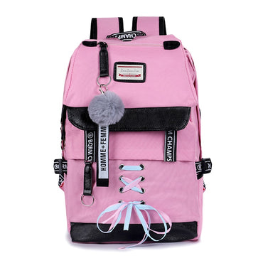 Lock Anti Theft Backpack Women Book Bag Big High School Bag