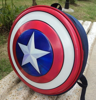 Captain America Shield Backpacks Gils Boys Children School Bags