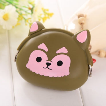 Girls Animals Mini Coin Purse Silicone Mini Coin Bag Change Wallet Purse
