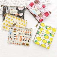 Zipper Hand Bag Girl Napkin Earphone Coin Pouch