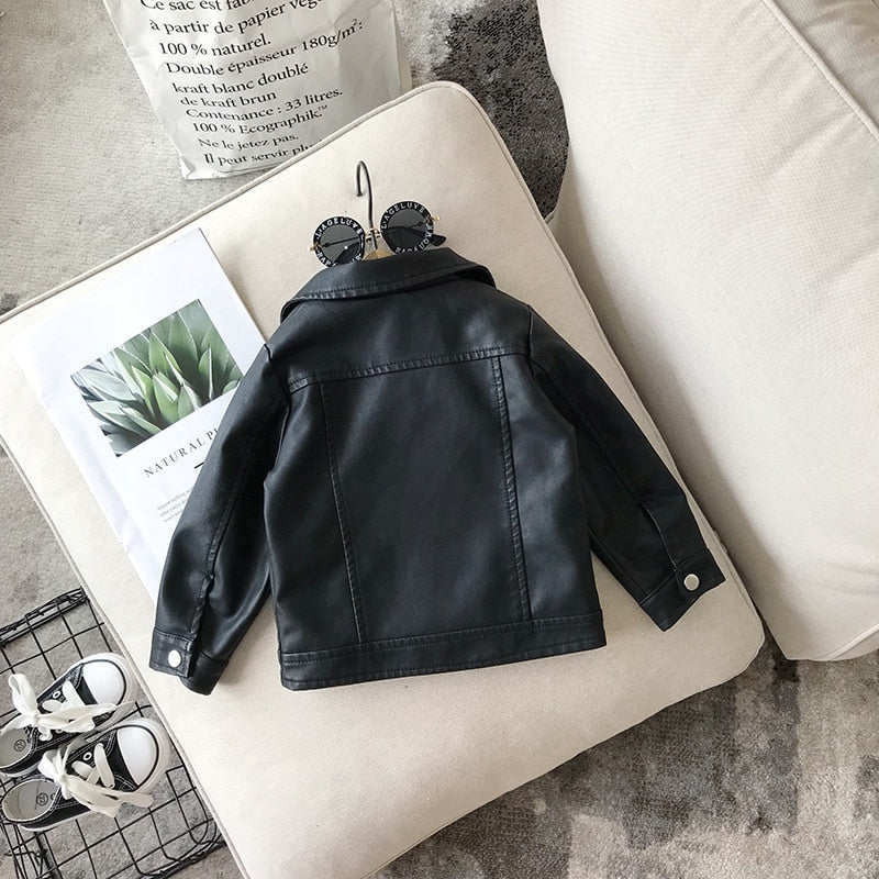 Baby Girl Boy Spring Autumn Winter PU Coat