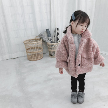 Girl Jacket thick warm Kids autumn winter Clothes