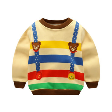 Cartoon Pattern Baby Boy Warm Tops Baby Girl Winter Fashion Clothes