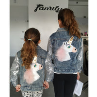 Unicorn Denim Jacket for Baby Girls Coats