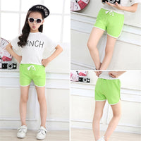 3-13Yrs Girls Candy Color Casual Short Pants