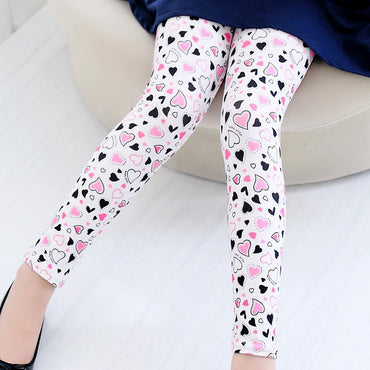 New Style Flower Butterfly Printed Girls Legging Pants