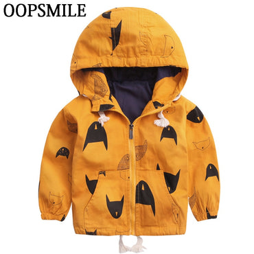 Cartoon Pattern Baby Boy Jacket