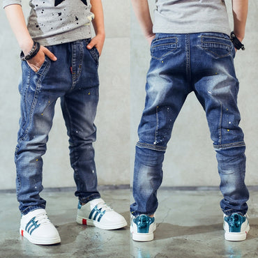 Hot fashion boy splash-ink top quality jeans