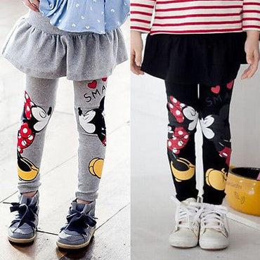 New Fashion Autumn Winter Toddler Girls Minnie Mouse Skirt Pants