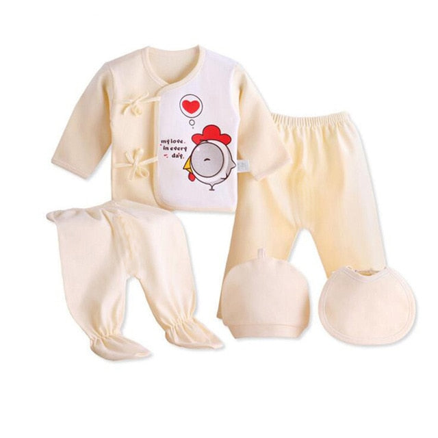Newborn baby suits pure cotton ( 5pcs/set) fashion unisex suit