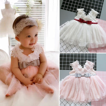 Fairy Baby Girl Christening Dress For Baptism Party Dress