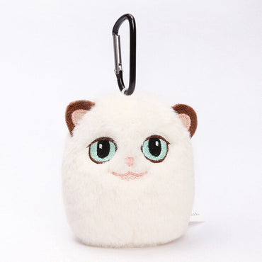 Grouchy Kitten Cat Plush Clip Keychain Mini Charm Bag Pendants Angry Cat Soft Stuffed Animal Toys