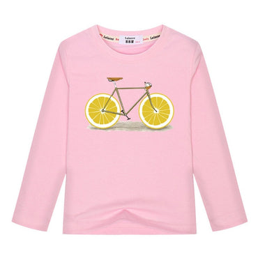 Hot Selling Fruit Bicycle Long Sleeve Cotton T-shirt