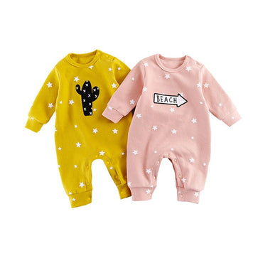 Baby Boys and Girls Infant Long Sleeve Cotton Jumpsuit