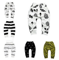 Print Pattern Cotton Sports Baby Harem Pants