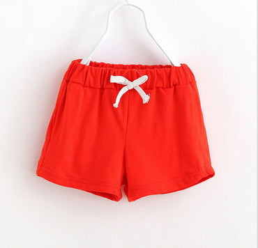 Girl Cotton Soft Comfortable Solid Color Short