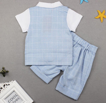 Baby Clothes Boys suits  wedding Kids British Wind Birthday Dress suit