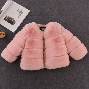 Fur Coat Elegant Baby Girl Faux Fur Jackets And Coats