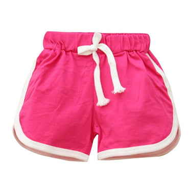 New Summer Baby Boys Girls Shorts Candy Color Cotton Kids Beach Shorts