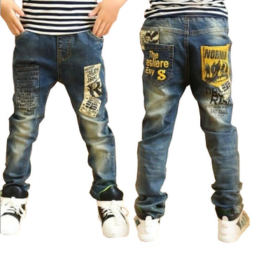 Hot Selling Boys long style cotton jeans
