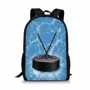 Ball Print School Bag for Teenager Boys Casual Book Shoulder Bags