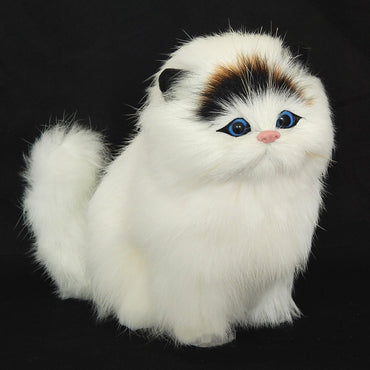 Real hair Electronic Pets Cats Dolls Simulation animal cat toy
