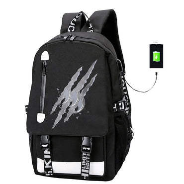 USB Charge High School Collage Teenager Backpack