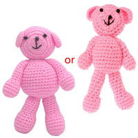 Baby Loves Newborn Baby Girls Boys Bear Photography Prop Photo Crochet Knit Toy