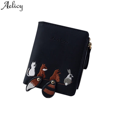 Vintage Wallets Cartoon Animal Candy Colored Girls Coin Bags