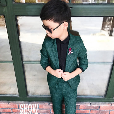 Jackets Spring Cotton Coat Pants 2 Piece Boy Suits