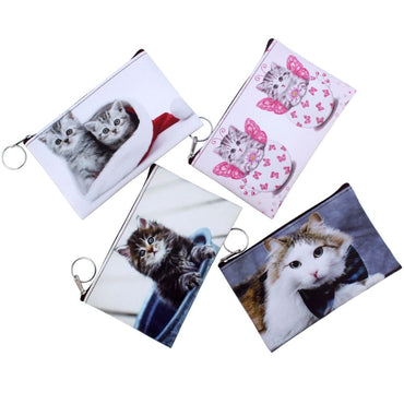 Kids kitty clutch wallet Women mini Wallet zipper