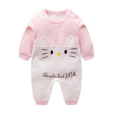 Newborn Baby Boys and Girls Cute Cotton Long Sleeve Rompers