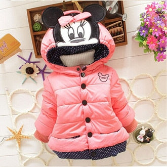 Children Clothing Baby Coat Girls Minnie Cartoon Hooded