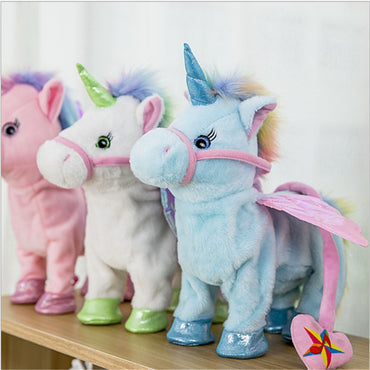 Stuffed Animal Toy Electronic Music Unicorn Toy