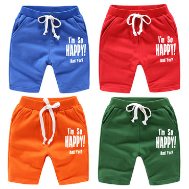 1-12Y Boys Comfortable Letter Print Casual Short
