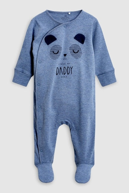 Long Sleeve Daddy Mummy Baby Rompers