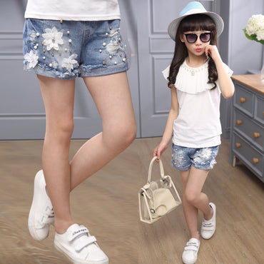 Hot Selling Beautiful Ripped Jeans Shorts For Girls